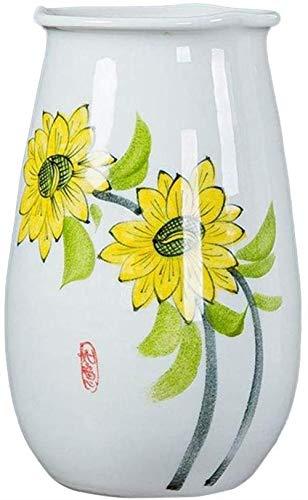 Kunstmatige bloemenvazen, wit keramiek Hand geschilderde Eettafel Vazen Woonkamer Slaapkamer Hotel Fake Bloemvazen 17-32CM Decor Vazen (Size : 16 * 26CM)