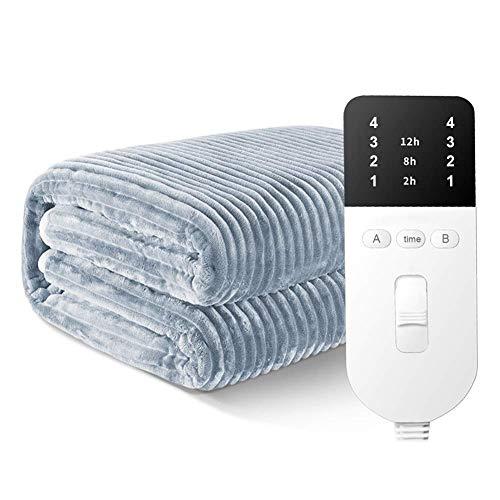 Värmefilt, dubbelsäng storlek | Uppvärmt madrasskydd | Undertak med elastisk kjol | snabb uppvärmning | Maskintvättbar | Säker för hela natten (storlek: 200 x 1