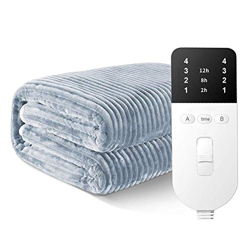 Electric Blanket, Double Bed Size | Heated Mattress Cover | Underblanket With Elasticated Skirt | Fast Heat Up | Machine Washable | Safe For All Night Use (Size : 200 * 180cm),Bed Throws