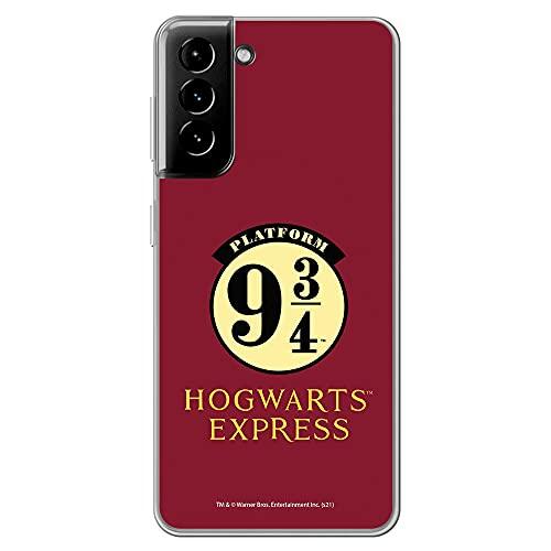 Movilshop Funda para [ Samsung Galaxy S21 Plus / S21 + 5G ] Harry Potter Oficial [Hogwarts Express Anden 9 3/4] de Silicona Flexible Transparente Carcasa Case Cover Gel para Smartphone.