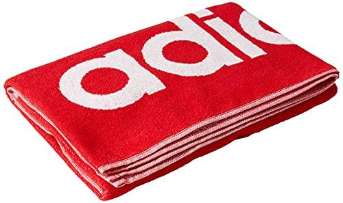 0AFIT #Adidas Adidas Towel L, Telo Mare Unisex – Adulto, Collegiate Red, NS