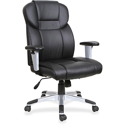 Lorell Leather High-Back Executive Chair with Seat and Back Independant Synchronized Tilt