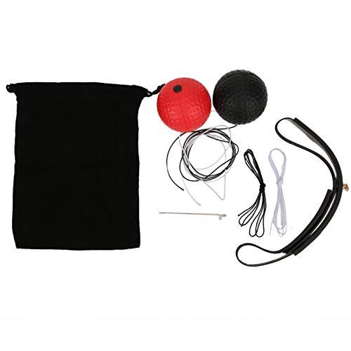 DAUERHAFT Bola Negra y Bola roja de Alta confiabilidad con Diadema Ajustable y Diadema Absorbente de Cuerdas, Equipo Deportivo para Ejercicios