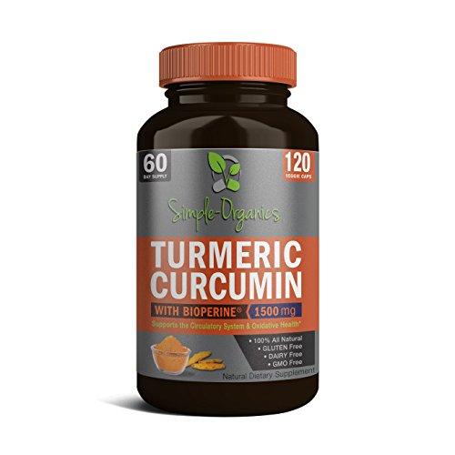 Turmeric Curcumin with Bioperine 1500mg Promotes...