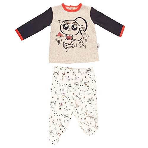Pyjama bébé 2 pièces molleton avec pieds Forest Friend - Taille - 9 mois (74 cm)
