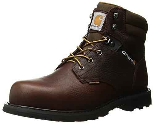 "Carhartt Men's 6"" CMW6264 Leather Waterproof Breathable Steel Toe Work Boot, Brown Pebble Oil Tanned, 9.5 M US"