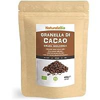 Nibs de Cacao Crudo Ecológico 400 g. 100 % Puntas de Cacao Bio, Natural y Puro. Cultivado en Perú a partir de la planta Theobroma cacao. Fuente de magnesio, potasio y hierro. NaturaleBio