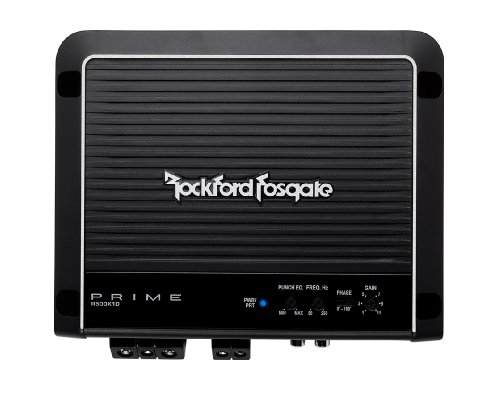 Rockford Fosgate R500X1D Prime 1-Channel Class D Amplifier,BLACK
