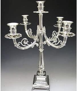 Silver Plated Candelabra 5 Branch