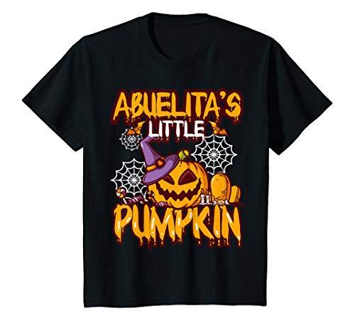 Kinder Abuelita's Pumpkin Grandchild Halloween Jack O Lantern Gift T-Shirt