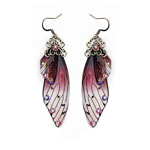 MB-LANHU Mujeres Mariposas de Hadas Insectos Mariposas monarca Pendientes Colgantes Joyas de...