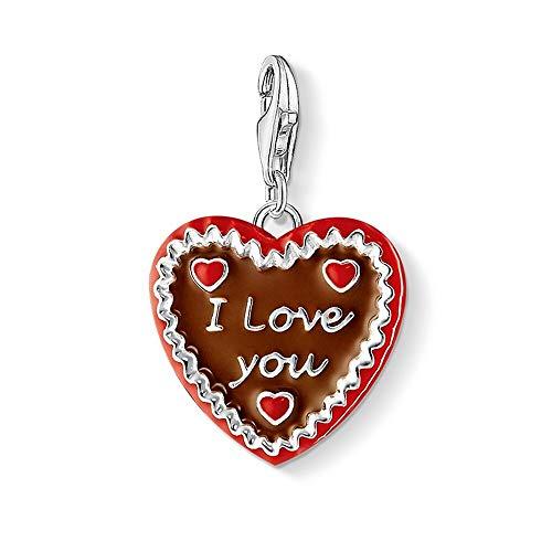 Silber Ich Liebe Dich Herz Cookie Ch Anhänger Fit Armband Halskette Tasche, Lebkuchen Lebkuchen Keks Charme Schmuck Für Frauen Männer