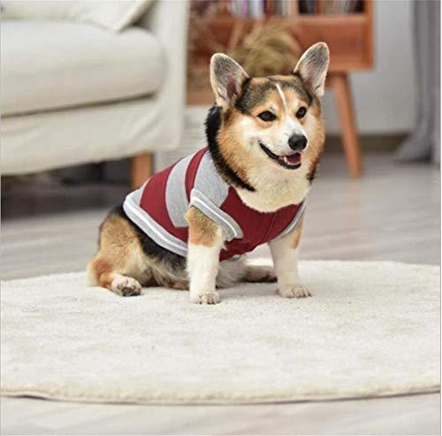 Kleding for huisdieren dragen van een hoed Gestreepte Cute Pet Dog Clothes dragen van een hoed Sweater Midden- en Kleinbedrijf Dog Clothing (Color : A, Size : L)