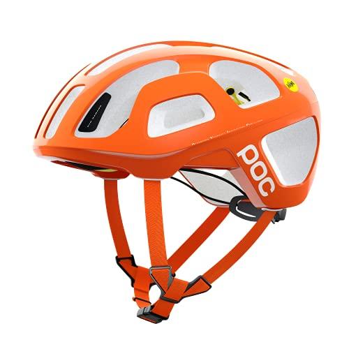 POC Octal MIPS, Casco da Bici, S (50-56 cm), Arancione (Fluorescent Orange AVIP)