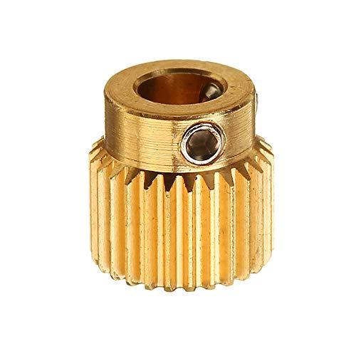 ZJF Componentes de la computadora Accesorios eléctrico 26 Dientes 5 mm Ruedas de extrusión de latón Engranaje de alimentación para la Parte de la Impresora 3D
