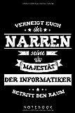 Notebook: Informatiker Notizbuch Blanko Ca. Din A5 Geschenk Für Programmierer / Organizer Mit 120...