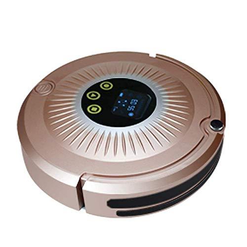 Robot Nettoyeur de tournesol Auto rechargeable intelligent Robot Aspirateur sans fil aspiration humide sec Mop Cleaner Robot Accueil untla mince, or rose KaiKai (Color : Rose Gold)