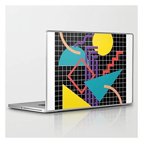 Laptop & Tablet Skin - 17' PC Laptop (15' x 9.8') - Memphis Pattern - 80s Retro Black by Graphicwav