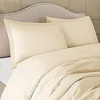 AURORA PLUS 100% Pure Egyptian Cotton King Sand Sheet Set 400 Thread Count- 3 Piece- Sateen Weave- Long Staple Combed Cott...