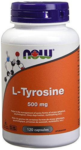 Now Foods L-tirosina 500 mg 120 Unidades 120 g