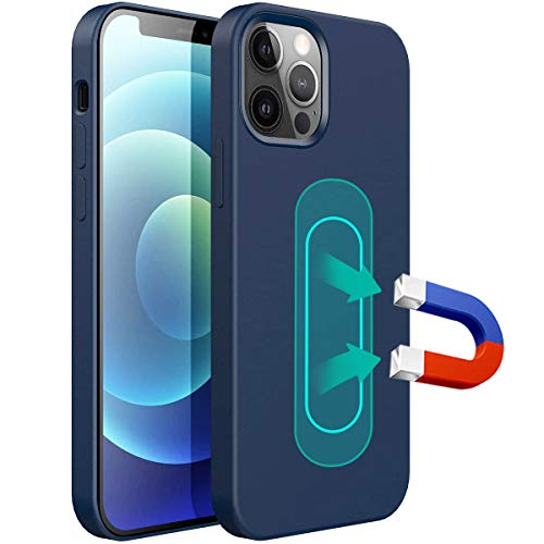 ESTPEAK Liquid Silicone Magnetic Case Compatible with iPhone 7 Plus/8 Plus, [Invisible Built-in Metal Plate] Support Magnetic Car Mount, 360 Protective Cover Compatible with iPhone 7 Plus/8 Plus 5.5''