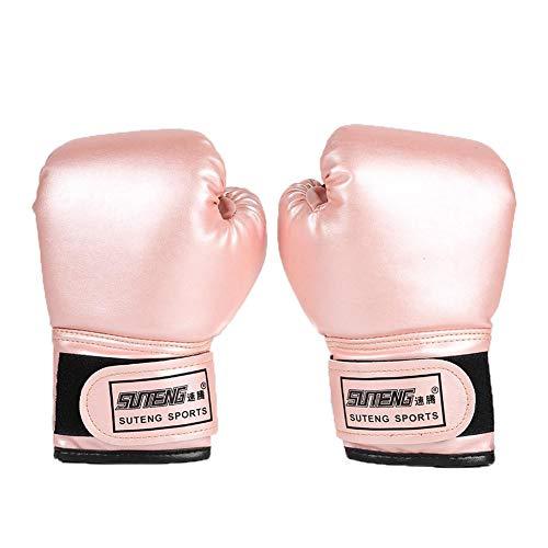 Everpert 2pcs Kinder Boxhandschuhe mit Klettschluss Klein Box-Handschuhe für Kinder von 3-2 Jahre Training Gloves (Pink)