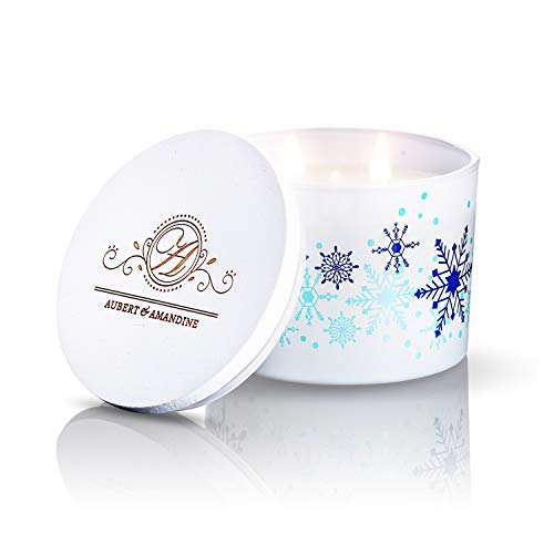 Calm - Lavender Vanilla Luxury Scented Soy 3 Wick Candle for Stress Relief & Relaxation High Intensity Aromatherapy (Calm - Lavender Vanilla Candle)