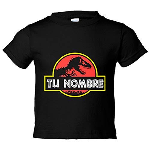 Camiseta niño tu nombre jurásico personalizable con nombre