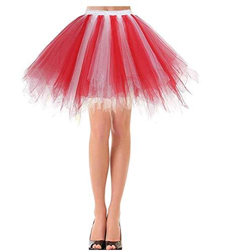 smilecstar Dames tule rok 50s rockabilly petticoat tutu onderrok korte balletdansjurk bal jurk jurk avondjurk gelegenheid accessoires blauw