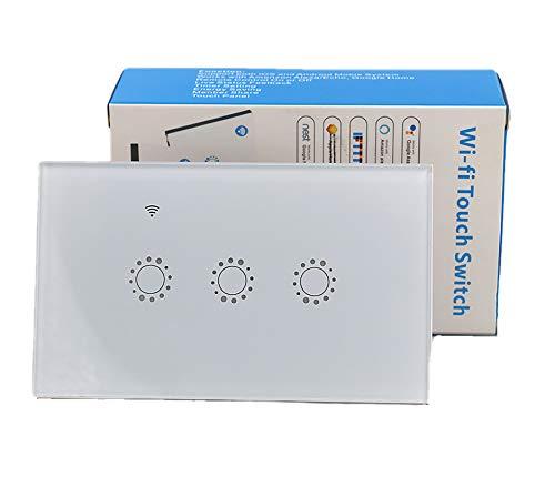 Interruttore WiFi Smart Intelligente a Pannello Touch LED Scatola 503 Compatibile con Amazon Alexa Google Home APP Smartlife IFTTT