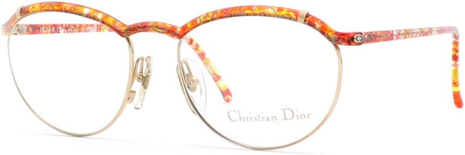 Christian Dior 2599 44 RG gold and Red and orange Authentic Women Vintage Eyeglasses Frame