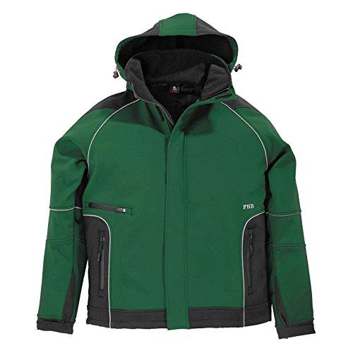 FHB Softshell Jacke Walter, größe XL, grün / schwarz, 78518-2520-XL