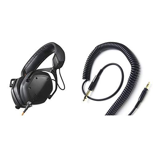 Crossfade M-100 Master Over-Ear Headphone - Matte Black & V-Moda Coilpro Extended Cable (Black)