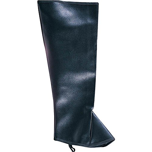 Rubie's Costume Co Men High Boot Tops-Blk&Br Costume Brown Costume