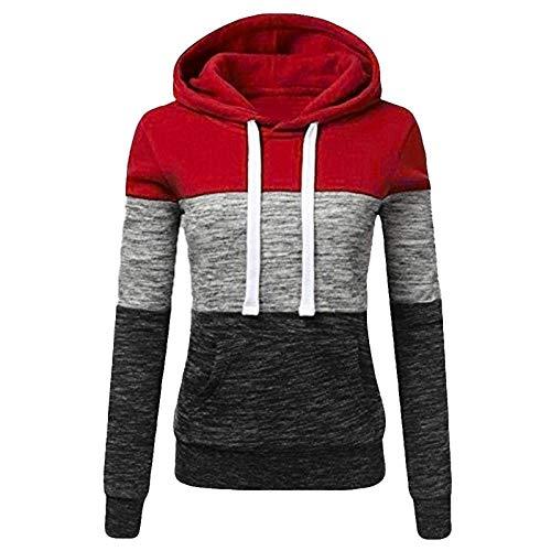 Dorical - Sudadera de manga larga para mujer, otoño, invierno, con capucha, para conducir, con bolsillo Z15 M