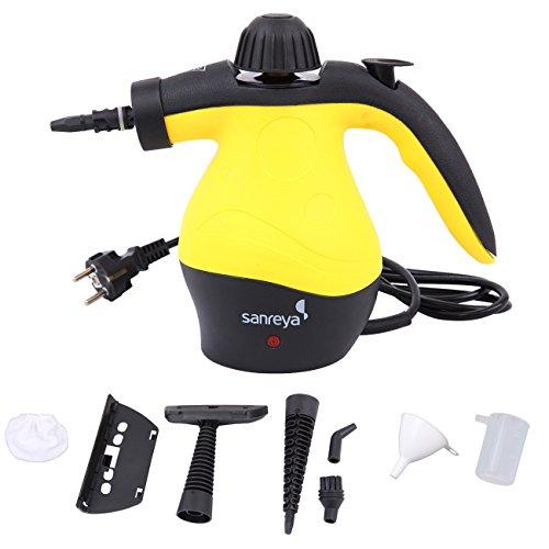 Pane JJ-ZQGQ-EU-PT 3050 Watt Handheld Dampfreiniger, 30 bar, multifunktional, tragbar, mit 12 Zubehörteilen, 1050 W, 300 ml