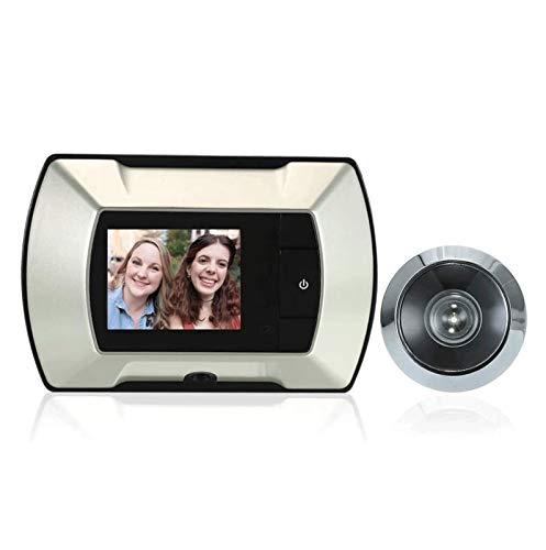 YQQQQ Timbre de Video Inteligente Monitor Visual LCD Mirilla de Puerta Cámara...