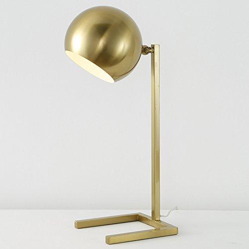 Moderne bureaulamp minimalistische retro bedlampje verguld kunst groot tafellamp slaapkamer lamp woonkamer lamp, hoge 50 cm E27 (niet inbegrepen)