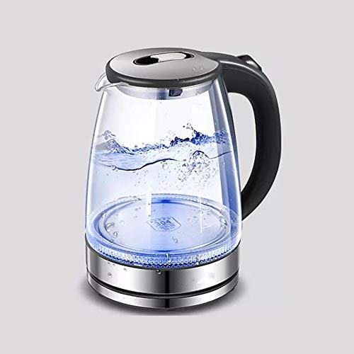 Glass Kettle (1.7l) Stainless Inner Lid Electric Kettle 1500w (bpa Free) Electric Glass Kettle With Stainless Steel Lid Hot Water Kettle,cordless Tea Kettle With Auto-off For Tea Make