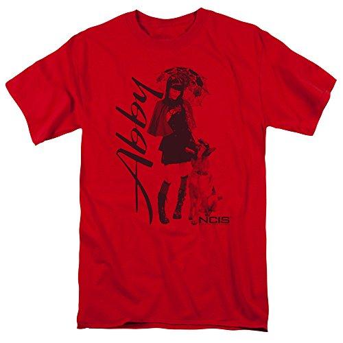 Trevco Camiseta masculina de manga curta NCIS, Vermelho, XXG