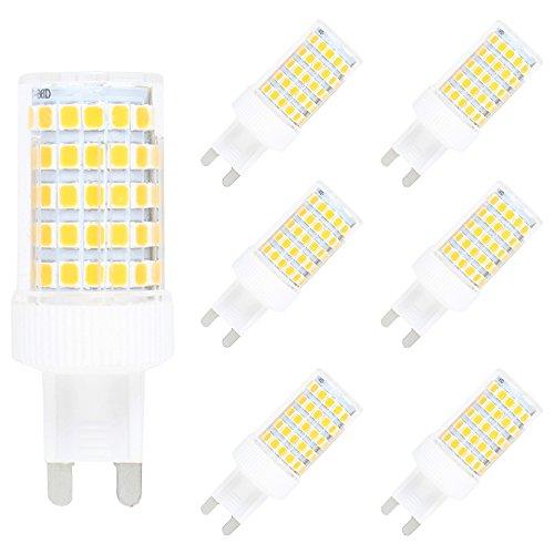 Confezione da 6 G9 LED Lampadine 10W Dimmable LED Bulb 86 SMD 2835LEDs Bianco Caldo 3000K Sostituzione 100W Alogena 800LM AC220V-240V