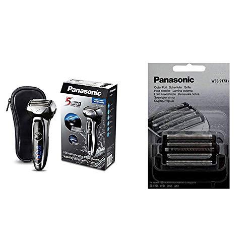 Panasonic ES-LV65-S803 Premium Wet & Dry - Afeitadora Eléctrica para Hombre/Máquina de Afeitar de Láminas para Barba Recargable + Panasonic WES9173Y1361 - Accesorio para máquina de afeitar