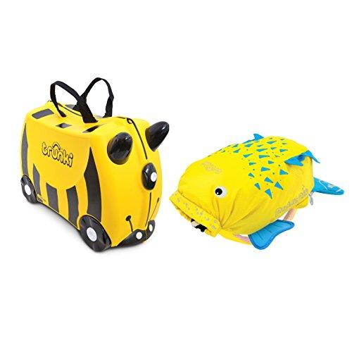 TRUNKI juego de maleta y mochila, amarilla