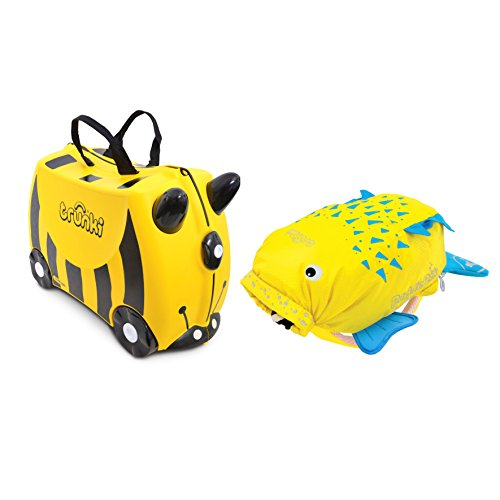Trunki Set Valigia e Zaino, Giallo (Giallo) - 0258-GB01