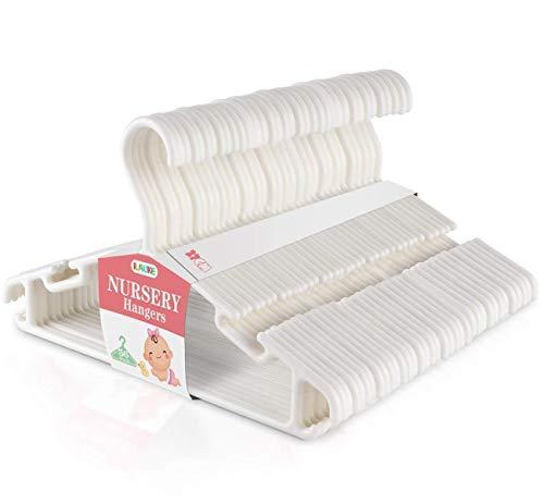 ilauke Kleiderbügel Kinderkleiderbügel 36 Stk. Baby Kleiderbügel Hangers Aufbewahrung Kleiderbuegel für Kleiderschrank Schrank Kleidung, Weiß