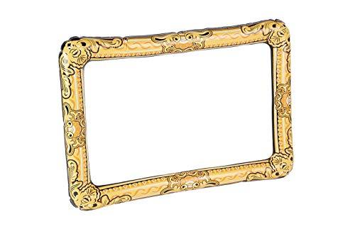 Smiffys 50888 Aufblasbarer Bilderrahmen, Unisex Erwachsene, gold, Nicht zutreffend