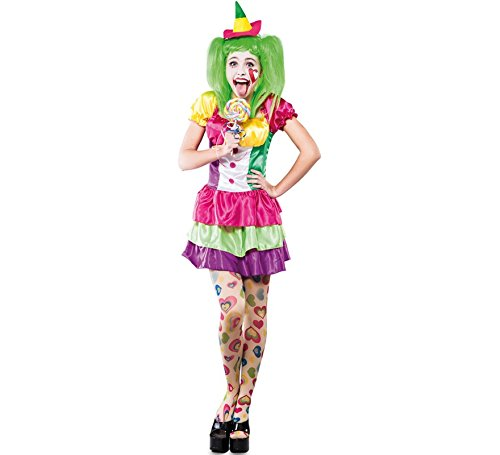 Fyasa 706131-t04 clown donna costume, grande