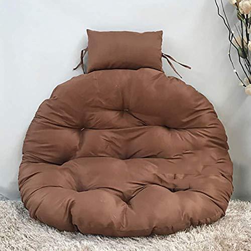 DBWIN Cojín Giratorio Redondo, 105 cm 41.3', Color sólido Sobredimensionado Colgante sobrecargado de Silla de Hamaca de Huevo Cojines-marrón 105x105 cm (41x41 Pulgadas)