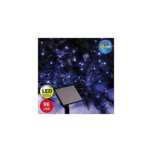 E=M6 5SOL111BL Guirlande Solaire 96 LED, Plastique, Bleu, Taille Unique