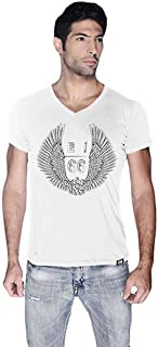 Creo Uae Route 66 Printed Bikers T-Shirt For Men - L, White